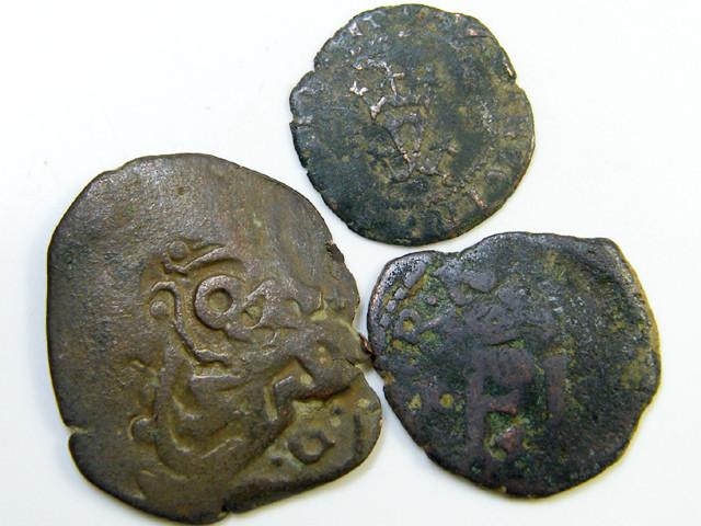 Parcel  Maravedis Cob 16-17thCent   Philip II, III, IV AC423