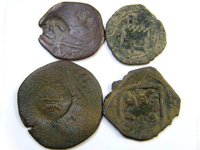 Parcel  Maravedis Cob 16-17thCent   Philip II, III, IV AC425