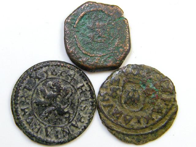 Parcel  Spainish Maravedis Cob 17-18 thCent   Philip II, III, IVAC430