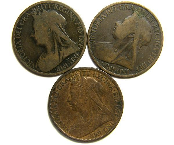 PARCEL THREE ONE PENNY COINS   OP 417
