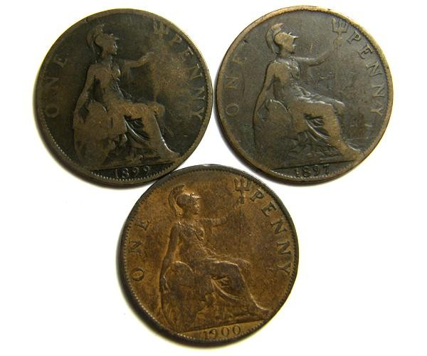 PARCEL THREE ONE PENNY COINS   OP 418