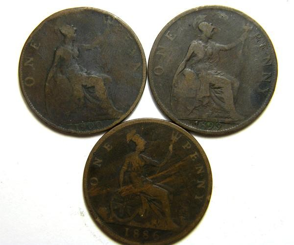 PARCEL THREE ONE PENNY COINS   OP 423