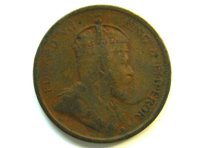 STRAITS SETTLEMENT 1 CENT 1907  COIN   J346