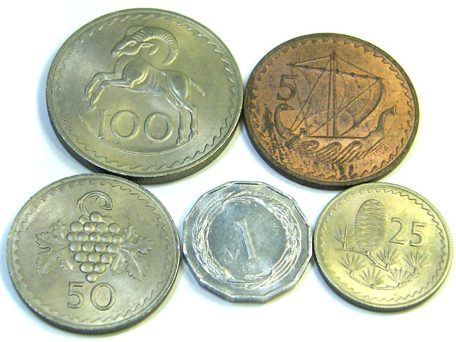 UNC SET 6 CYPRUS 1967 COINS COIN   J353