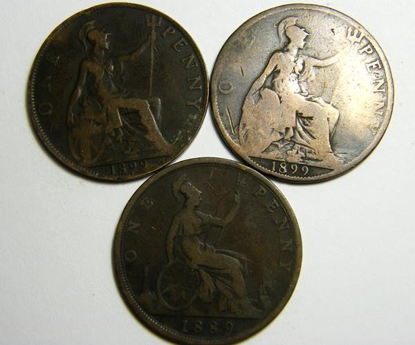 PARCEL THREE ONE PENNY COINS   OP 430