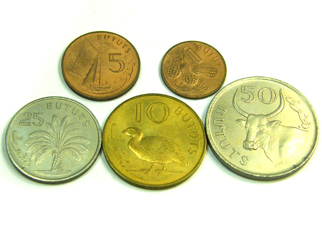 UNC SET 5 1971 GAMBIA COINS   J 360