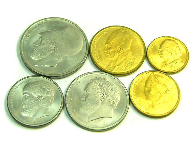 UNC SET 6 GREEK 1976 COINS    J 361