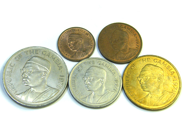 UNC SET OF 5 1971 THE GAMBIA COINS    J 364