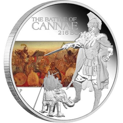 THE BATTLE OF CANNAE 216 BC  1 OZ SILVER OFFICAL LIST PRICE
