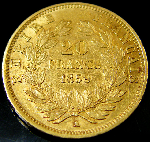 GOLD COIN FRANCE 20 FRANCS 1859 A   CO 142