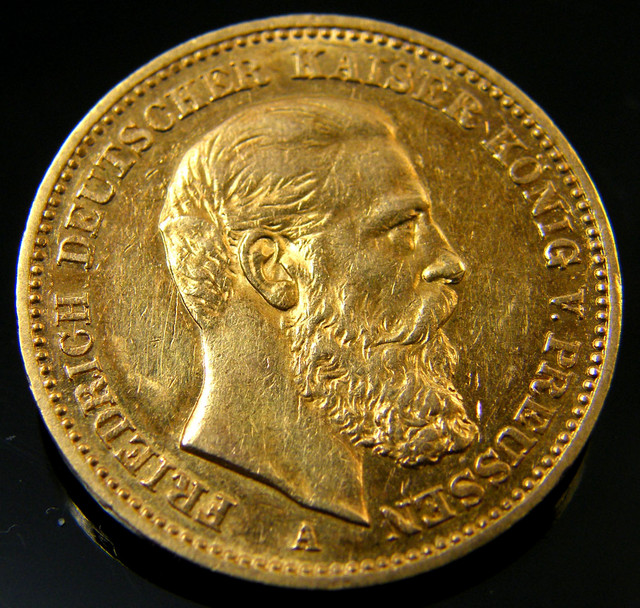 20 MARK GOLD GERMAN COIN 1888   CO 155