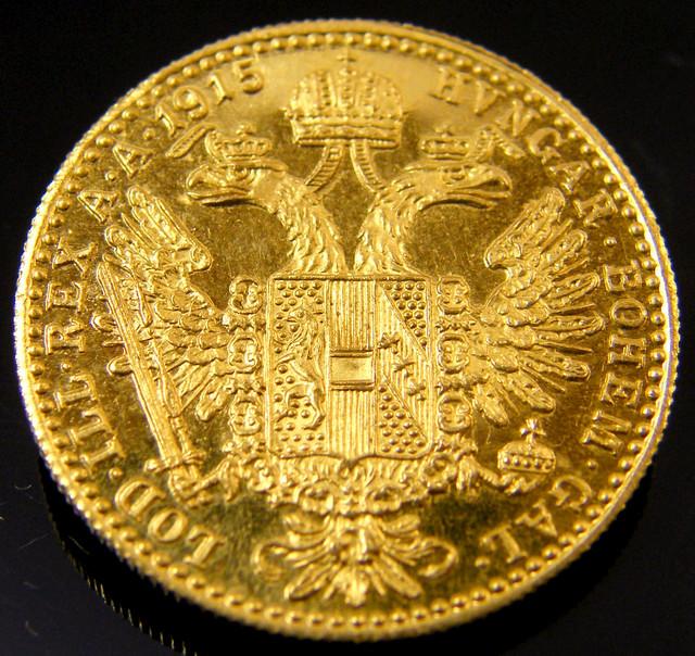 UNC  AUSTRIAN GOLD DUCAT 1915    CO 156