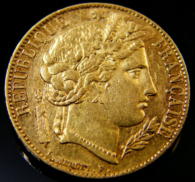 GOLD 20 FRANC GOLD COIN 1851 REPUBLIC SERIES  CO 157