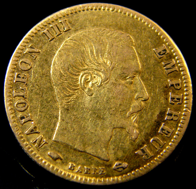 FRENCH 5 FRANCS 1859 GOLD COIN   CO162