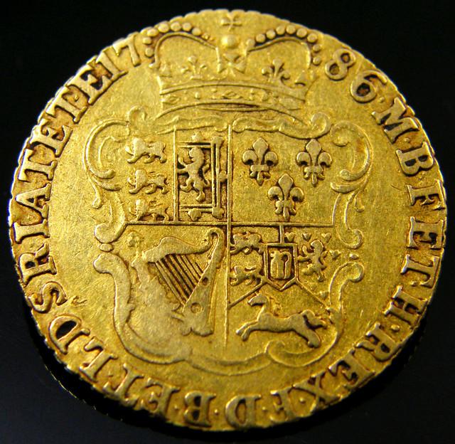 SCARCE  GOLD GUINEA 1786 GOLD COIN    CO 164