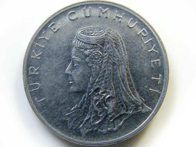 50 KURUS TURKEY  COIN   J 444