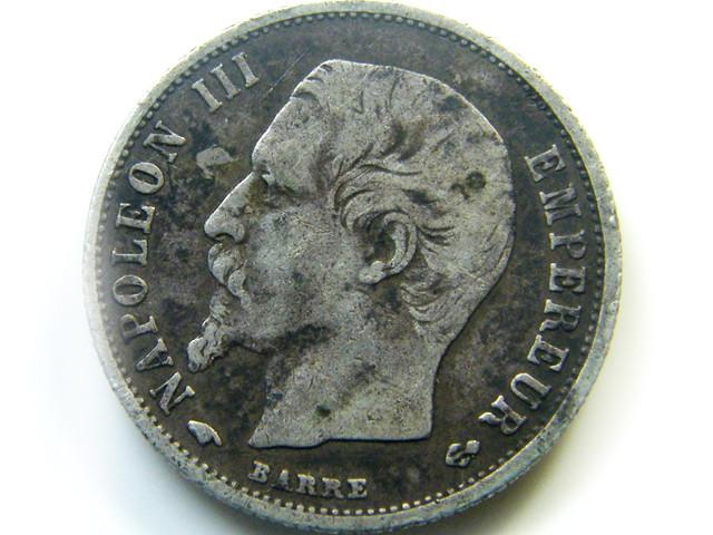 FRANCE 1858  50 CENT  COIN   J 450