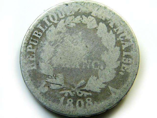 FRANCE  COIN  1808   J 455