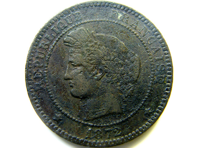 FRANCE  COIN 10 CENTIMES 1872   J 462