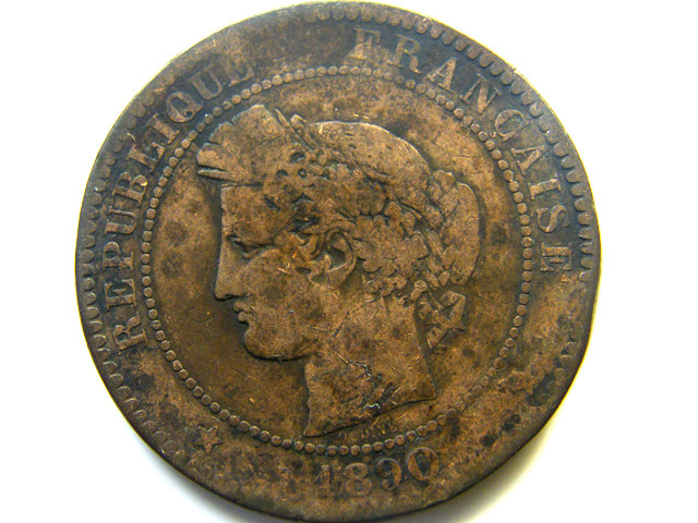 1809 FRANCE 10 CENTIMES  COIN   J 465