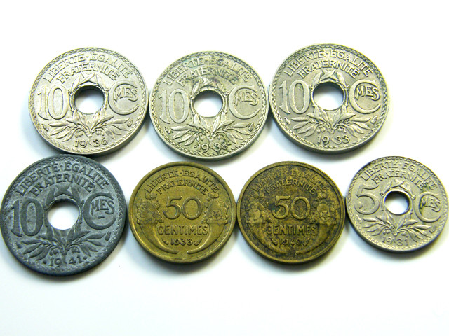 PARCEL 7  MIXED FRANCE  COIN S 1930-1940   J 471