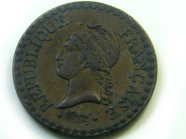 1848 1 CENTIMES FRANCE  COIN   J 478