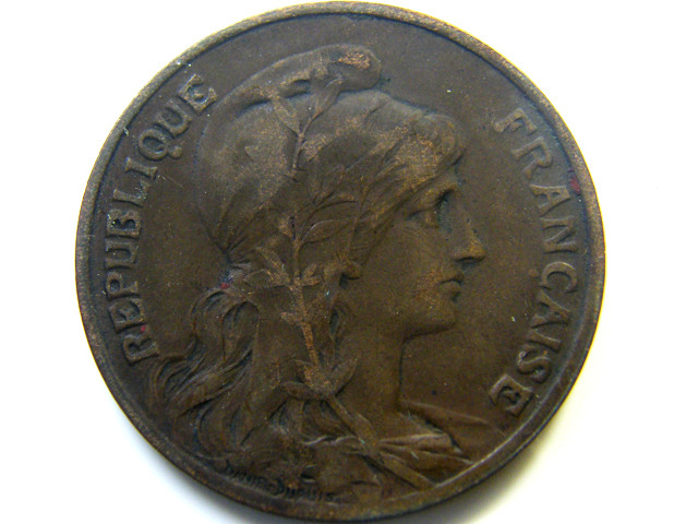 1904 10 CENTIMES FRANCE  COIN   J 483
