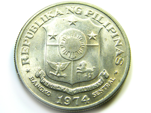 PHILIPPINES   1 PESO COIN   J 500
