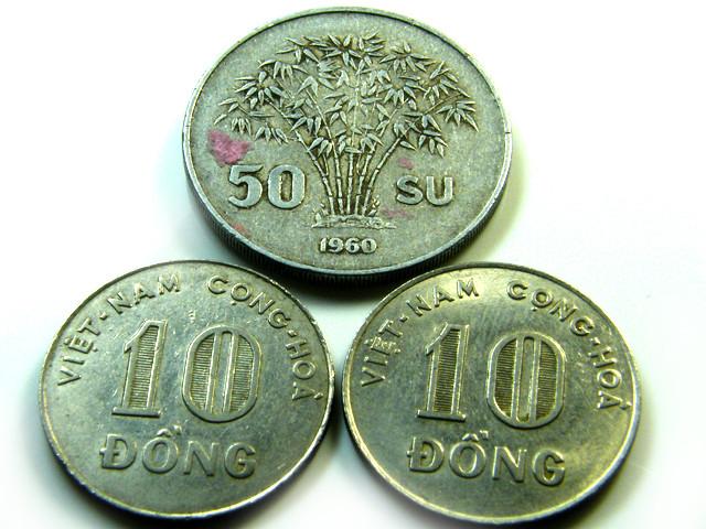 PARCEL  THREE VIETNAM COIN S 1960-1970  J514