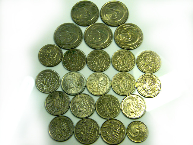 PARCEL23 MIXED SINGAPORE   COIN   J525