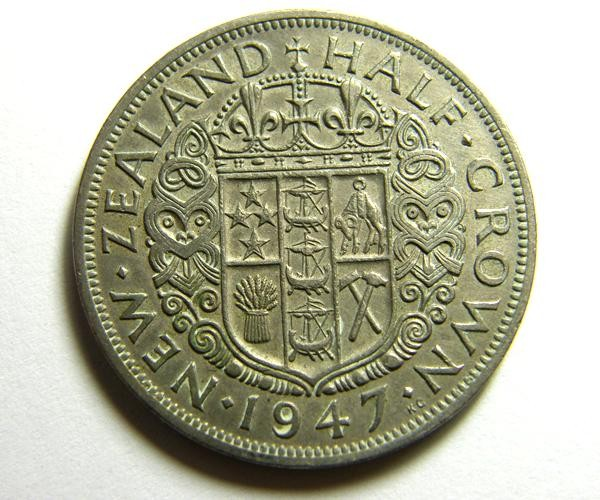 HALF CROWN    COIN   1947          OP 468
