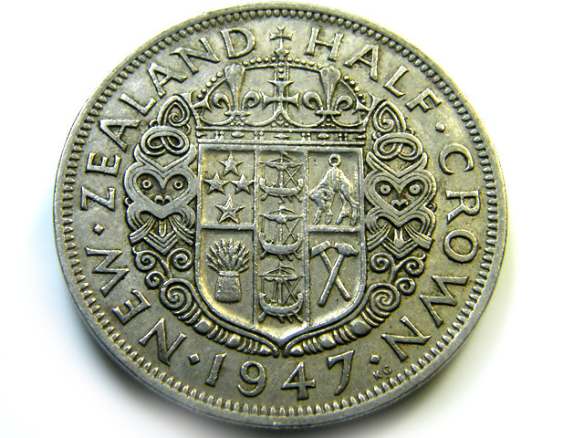 1947 HALF CROWN   COIN   J538