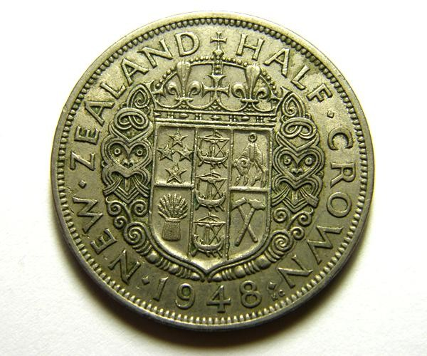 HALF CROWN    COIN   1948          OP 469