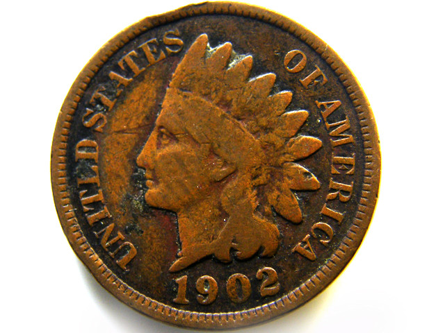 1902 ONE CENT USA  COIN   J552