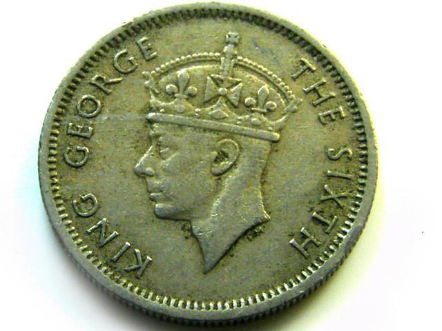 BRITISH MALAYA   COIN  10 CENTS SILVER  J557