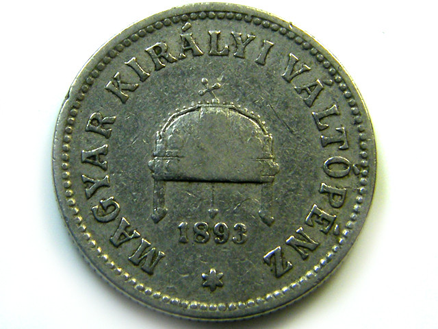 1893 HUNGRAY  10 FILLER COIN   CO -224