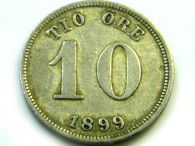 1899 10 ORE SWEDEN   COIN   J575