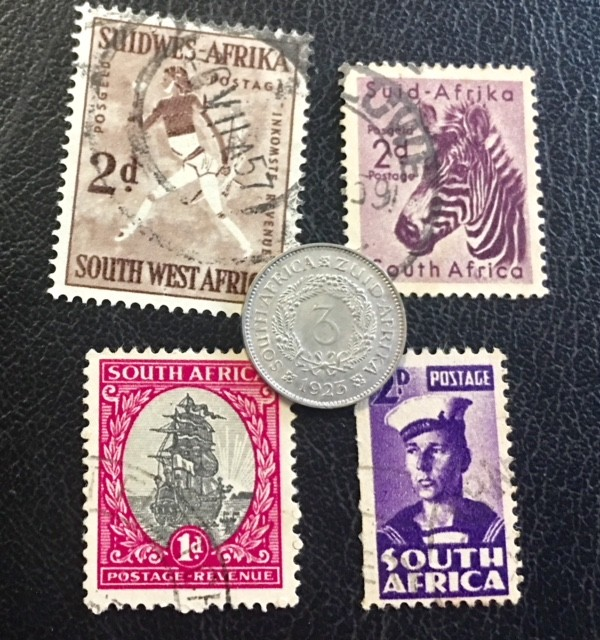 SOUTH AFRICA SILVER 3 PENCE 1923 COIN   J 608