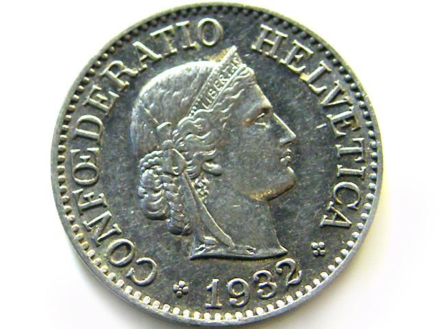 SWISS 10 CEMES  1932   COIN   J 627