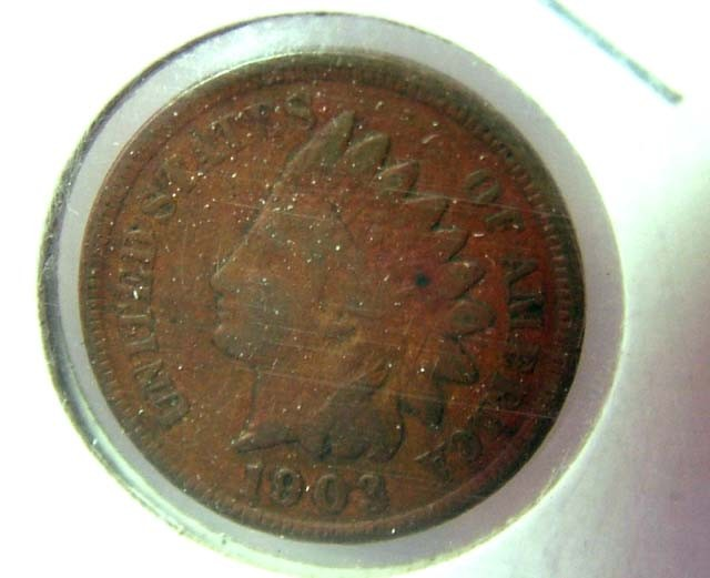 1903 USA COIN -COLLECTION INDIAN HEAD  ONE CENT C-1