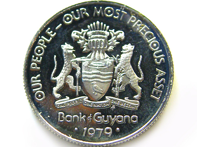 GUYANA 1979 UNC 10 CENYS     COIN   J 680