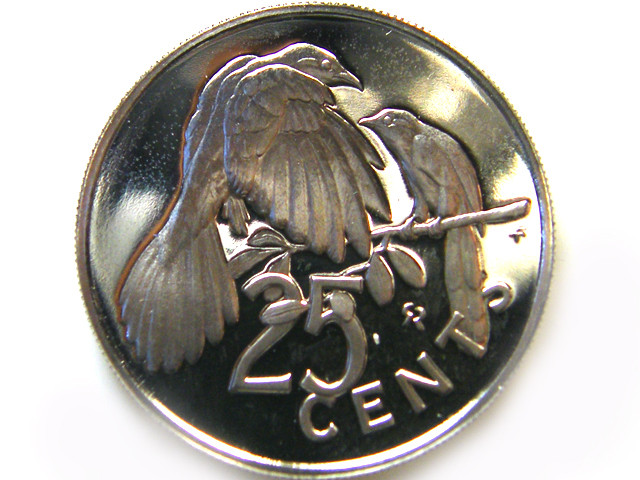 UNC VIRGIN ISL 1975 25 CENTS     COIN   J 683