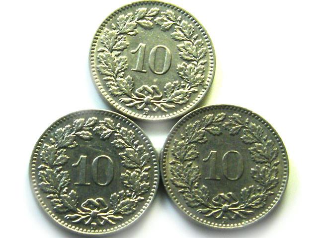 3  SWISS10 CEMES    COIN  1934 1957   J 857