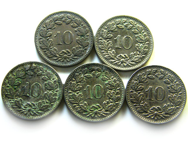 5 SWISS10 CEMES  1895 -  1954COIN   J 697
