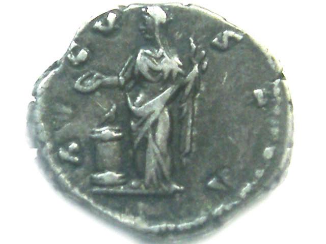 ROMAN SILVER DENARII FAUSTINA SENIOR  AC 447