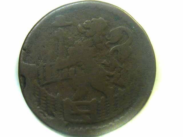 1714 DUTCH   HOLLANDIA COIN    CO357