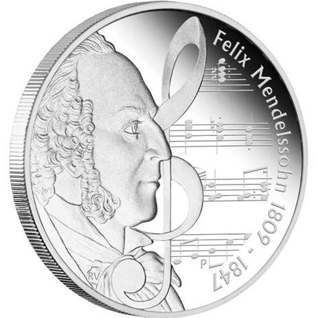 Great Composers - Mendelssohn 1809-1847 1oz Silver Proof