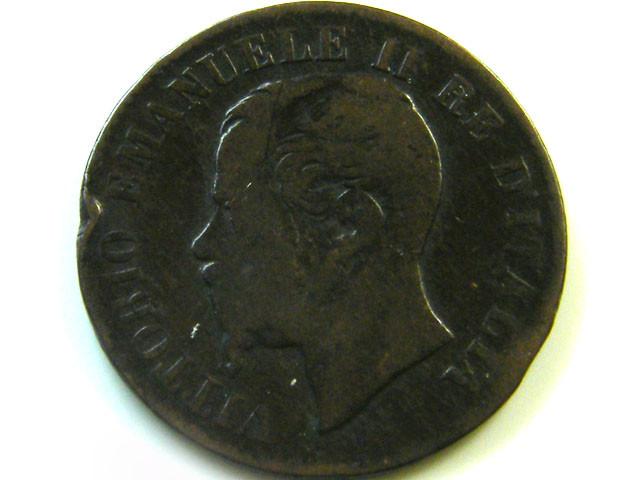 1867 ITALY 2 CENTESIMI   COIN    CO362