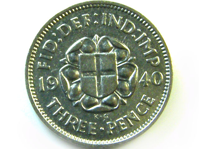 1940 3 PENCE COIN    CO370