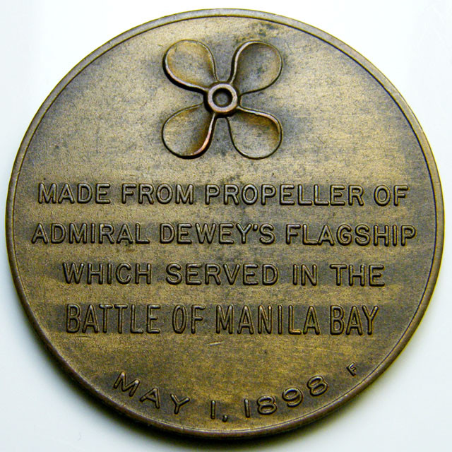 A RELIC MEDAL FROM PROPELLER MANILA BAY 1898   CO 385